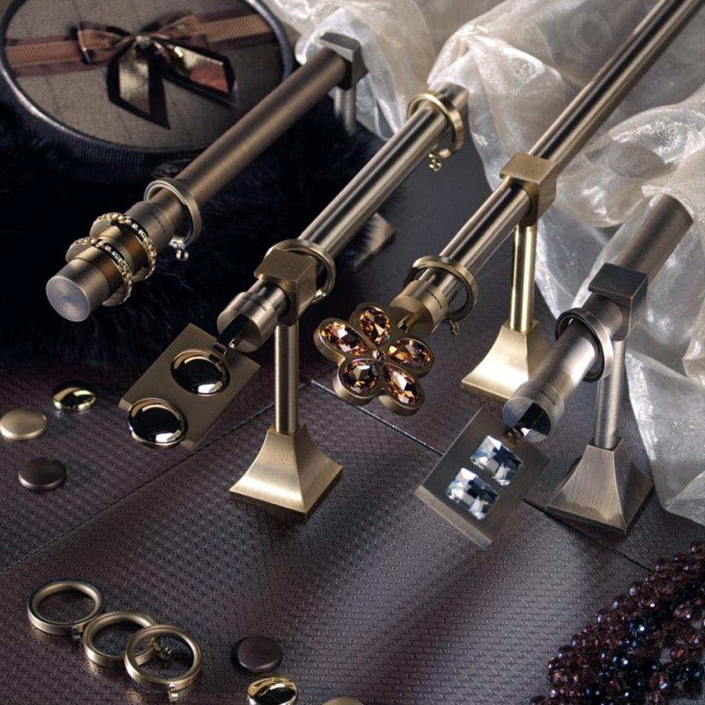 Современный дизайн карниза благородный цвет матового металла