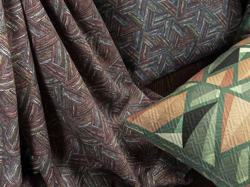 Варианты тканей для геометрический орнамент
