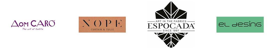 """Логотипы производителей тканей для штор """"Европа"""" пошив штор на заказ"""