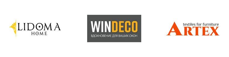"""Логотипы производителей тканей для салона штор """"Европа"""""""