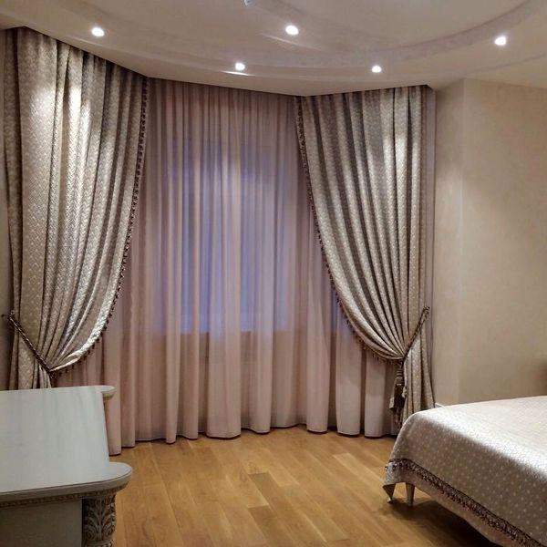 Спальня шторы в частном доме