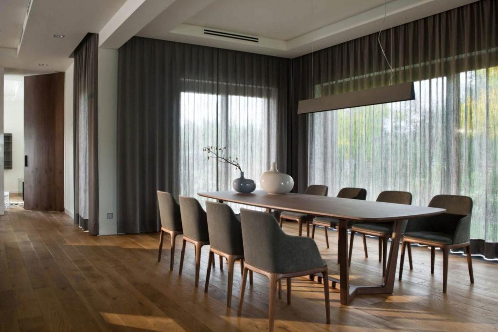 столовая в загородном доме современный дизайн