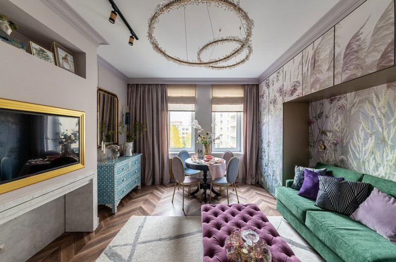 текстильное оформление комнаты в городской квартире