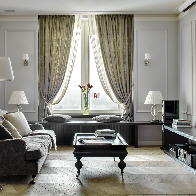Классические шторы в современнос дизайне для Москвы и Подмосковья