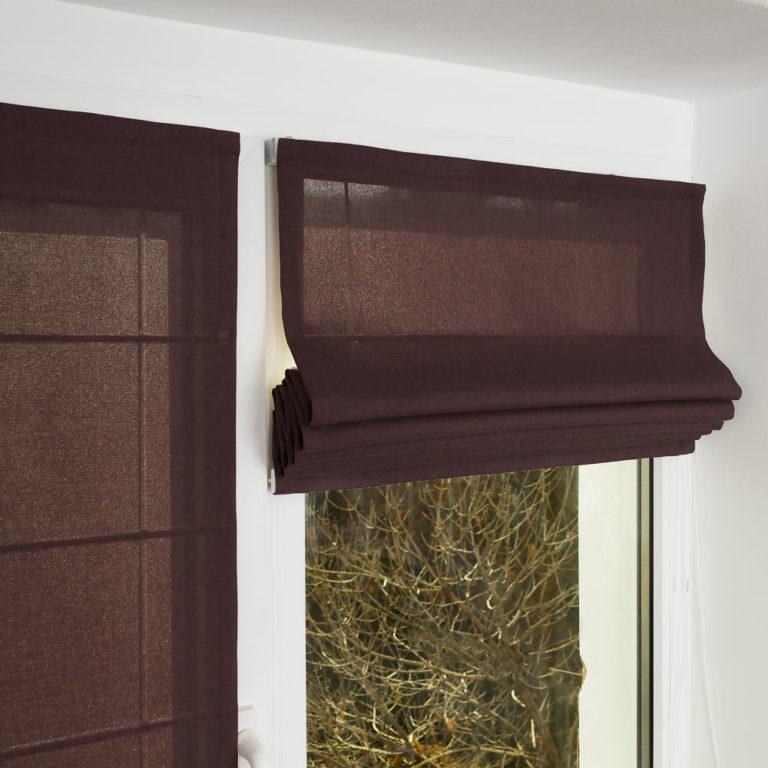 Римская штора с креплением на створку пластикового окна