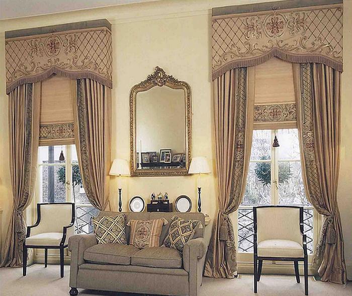 Роскошные классические шторы в интерьере