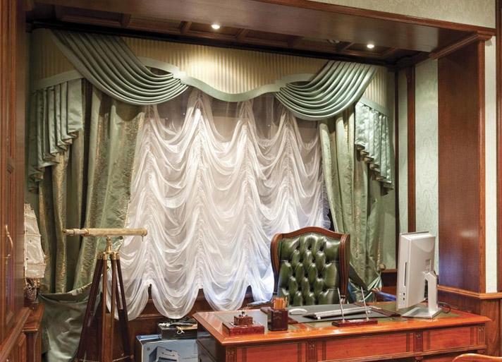 шторы в шикарный кабинет в частный дом или городской особняк