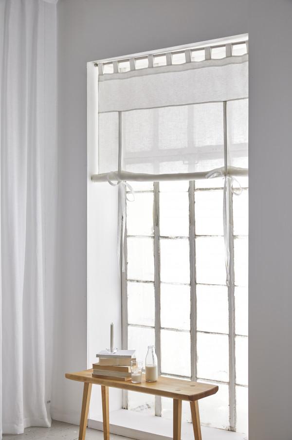 Римская льняная штора современный дизайн пошив на заказ