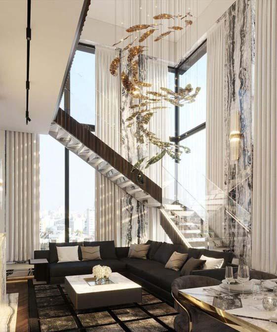 шикарные нестандартные шторы на окна второй свет для частного дома