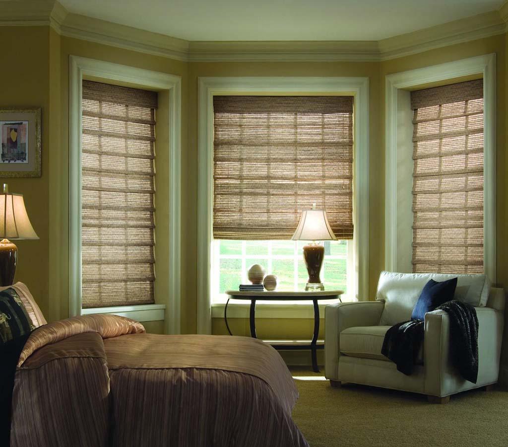 прозрачная римка в спальне современный дизайн