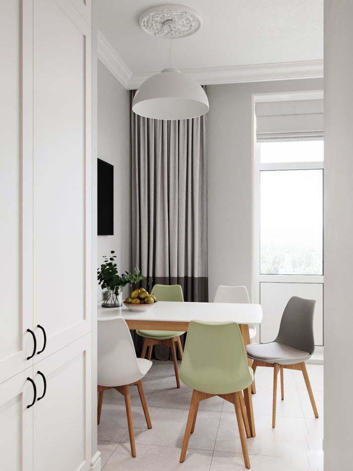 Кухонная римская штора белого цвета