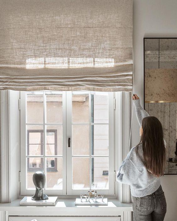 Льненые шторы
