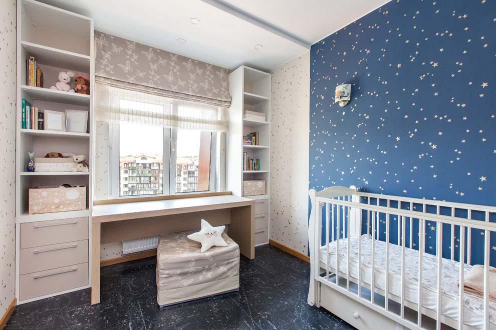 римская штора для мальчика в детской комнате