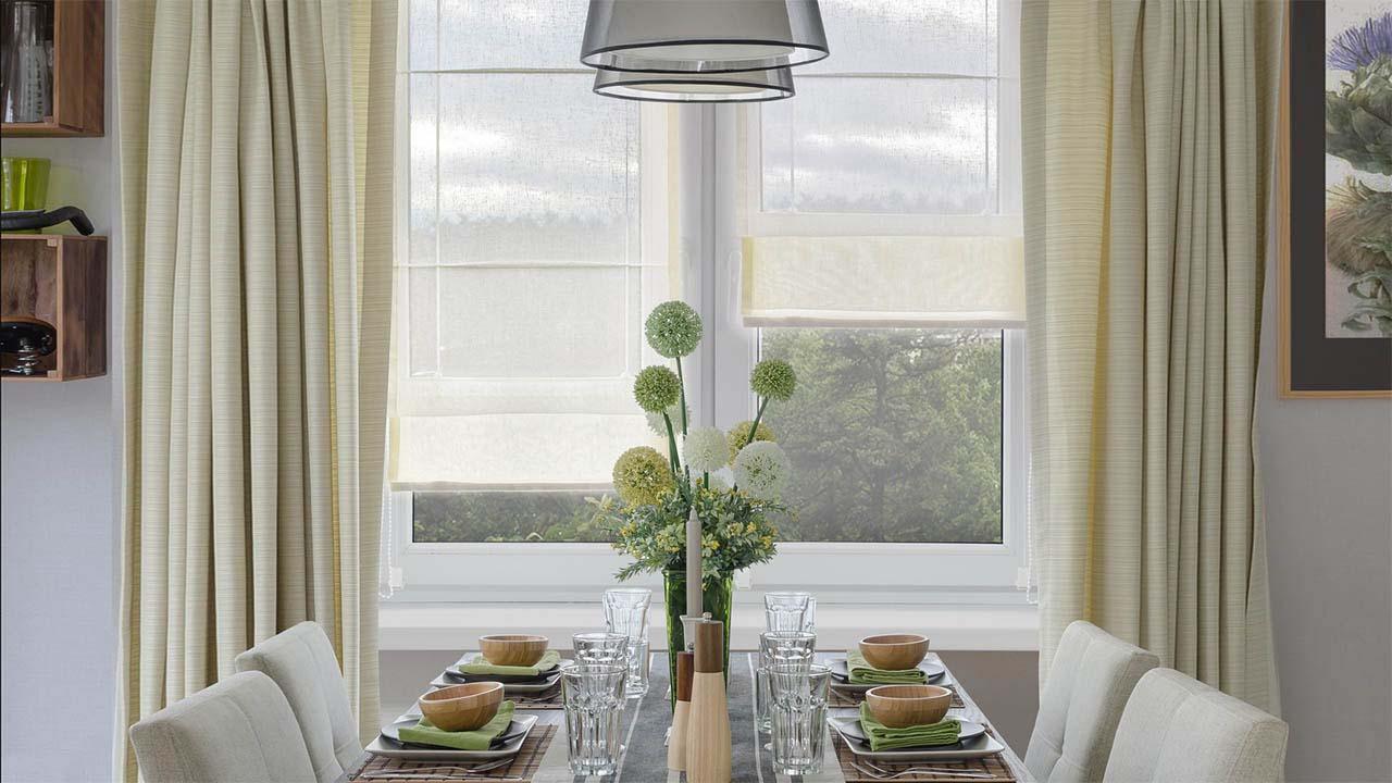 римские шторы мини на кухне